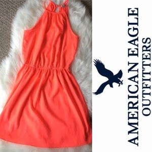 American Eagle Neon Orange Mini Dress